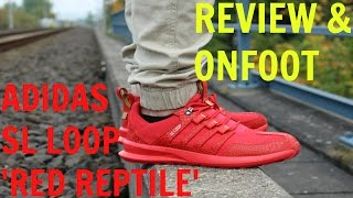 adidas sl loop red reptile review w onfoot comparison