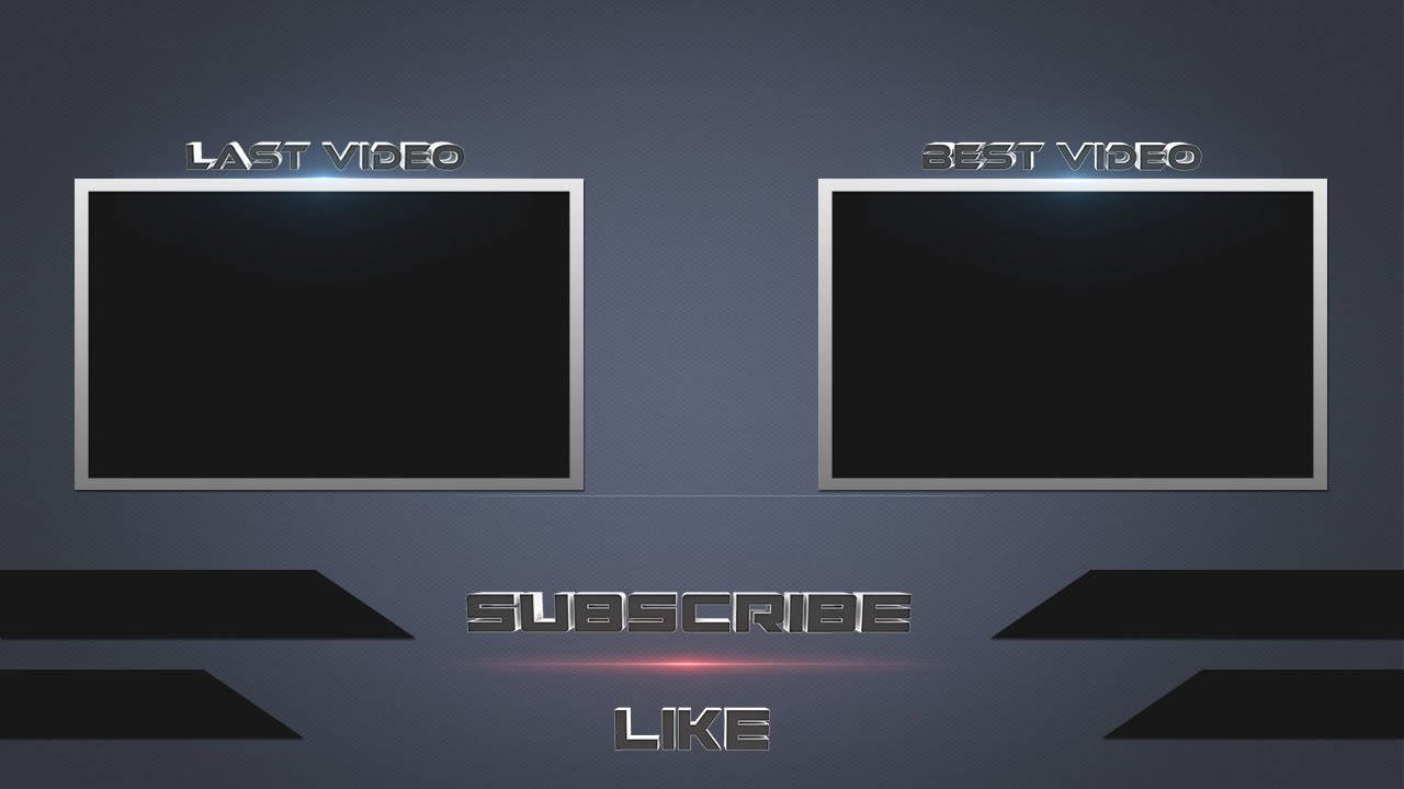 Speed Art Photoshop Free Outro Template Youtube