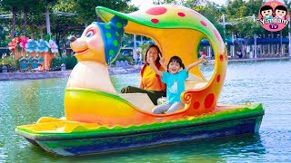 หนูยิ้มหนูแย้ม   เล่นเครื่องเล่นแสนสนุก Outdoor Playground Fun for Kids at Dream World