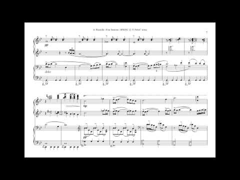 A. Piazzolla - Four Seasons - 1. SPRING - for piano 4 hands - sheet music