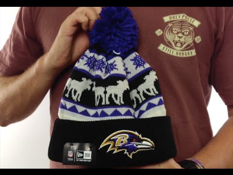 330573658 Ravens 'THE-MOOSER' Knit Beanie Hat by New Era