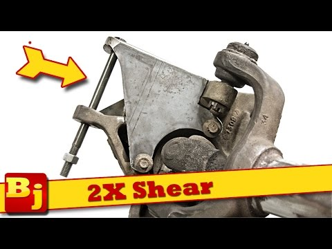 DIY High Steer Double Shear Brackets