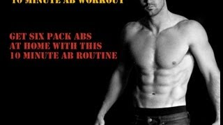 10 minute home abs workout routine get six pack abs hd