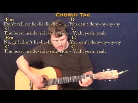 Animals (Maroon 5) Strum Guitar Cover Lesson with Chords/Lyrics