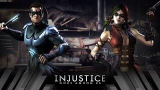 Injustice Gods Among Us - Nightwing Vs Harley Quinn (Very Hard)