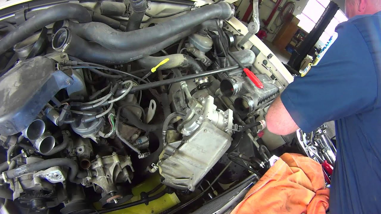 how to install a water pump ford 5 0l wp 657 aw4044 youtube rh youtube com Ford Bronco 5.0 Engine Diagram 1995 Ford F-150 4 9 Engine Diagram