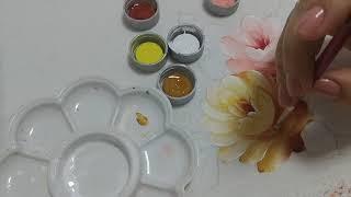 Aprenda Pintar Rosas, Botões, Folhas e Fundo