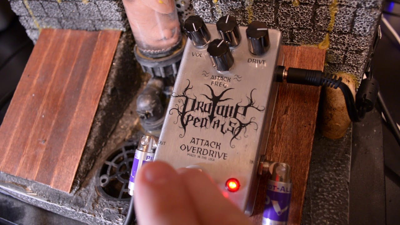 Pro Tone Pedals Attack Overdrive The Best Pedal For Black Efek Gitar Metal Guitar Tones