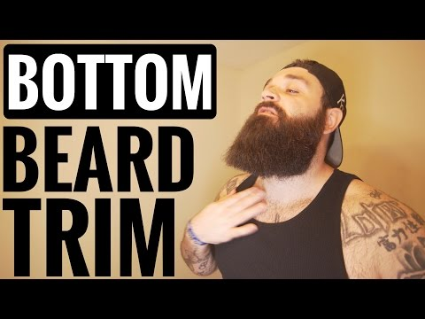 How to trim the bottom of your beard | 3 IMPORTANT Tips !!!