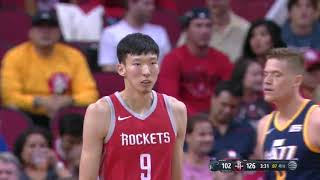 ZHOU QI MONSTER SLAM! Zhou Qi Highlights vs Jazz (05.11.17)