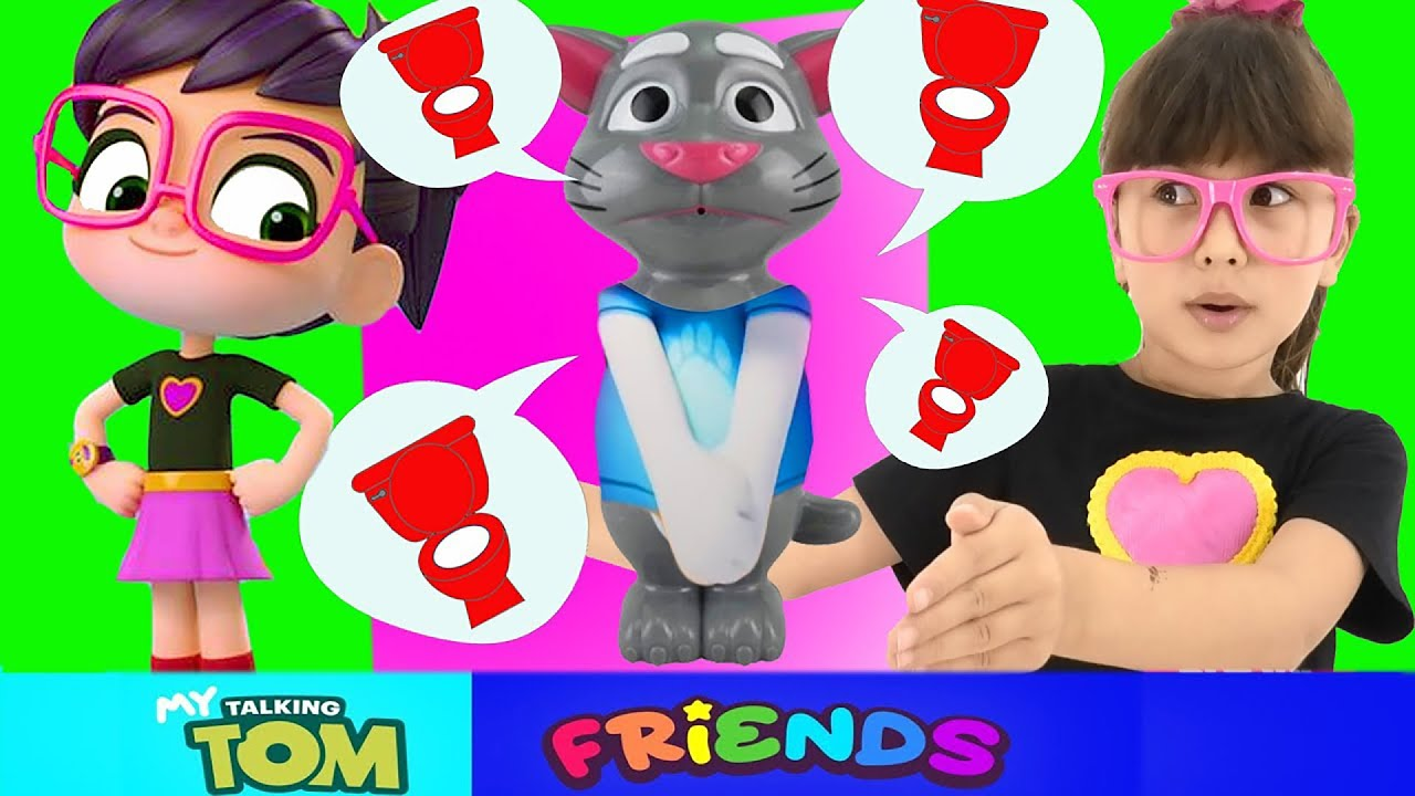 Toilet Drama in My Talking Tom Friends VS Abby Hatcher | Cartoon about Talking Tom for kids