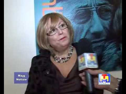 An interview with Vittoria for Italian television