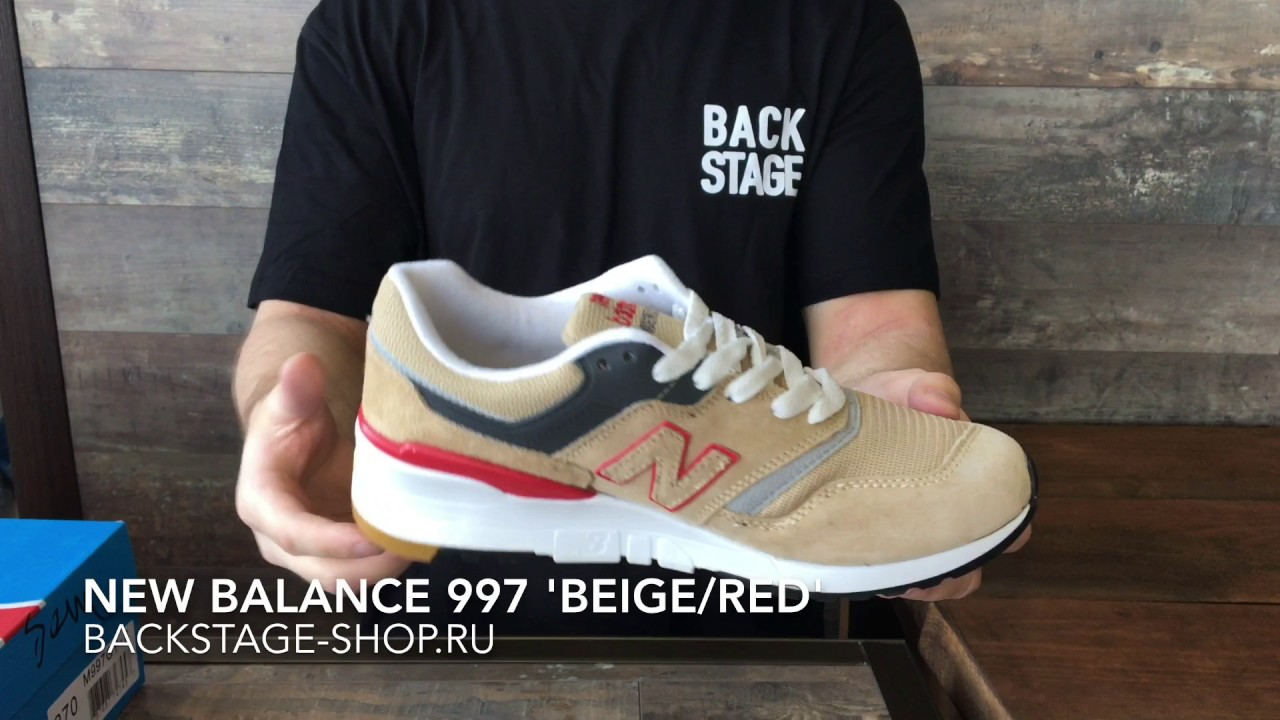 buy popular c0820 38171 New Balance 997 'Beige/Red'