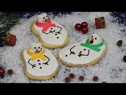 Melted Snowman Cookies / geschmolzene Schneemann Kekse