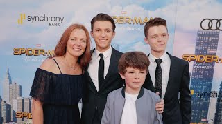 Tom Holland Adorably Brings His Family to the 'Spider-Man: Homecoming' Premiere