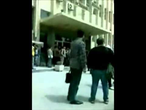 مظاهرة  كلية العلوم دمشق  Damascus university protest 11-4-2011