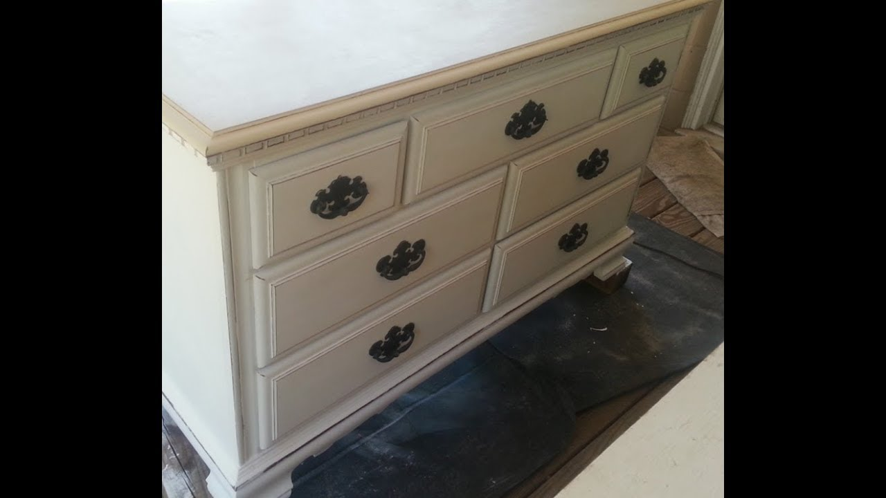 ANTIQUING HARDWARE with CHALK PAINT DRAWER PULLS