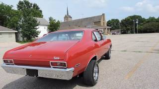 1972 Chevy Nova Red For Sale at www coyoteclassics com