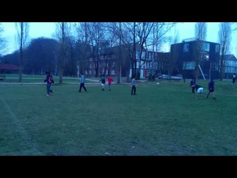 Winter Football at Jacobs University, Bremen, Germany