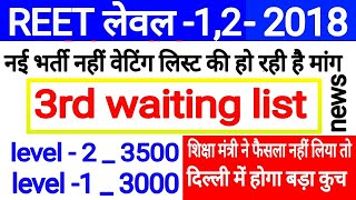 Reet level 2 3rd waiting list 2018 / Reet level 1 3rd waiting list 2018 / Reet waiting list 2018