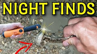 NIGHT FINDS • Metal Detector finds at night. Extreme Treasure Hunt with flashlight & metal detector