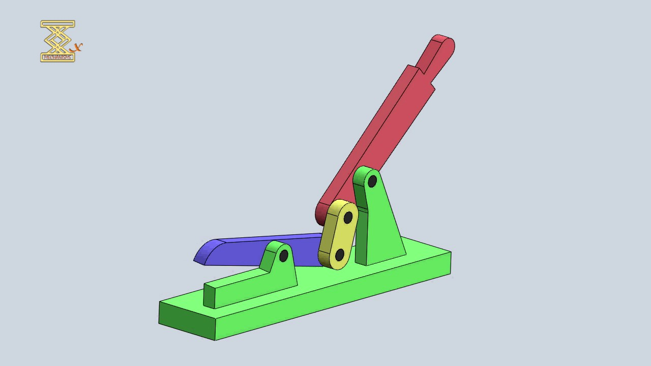 Mechanism Wheel Lever : Four bar mechanism of a hand lever shear youtube