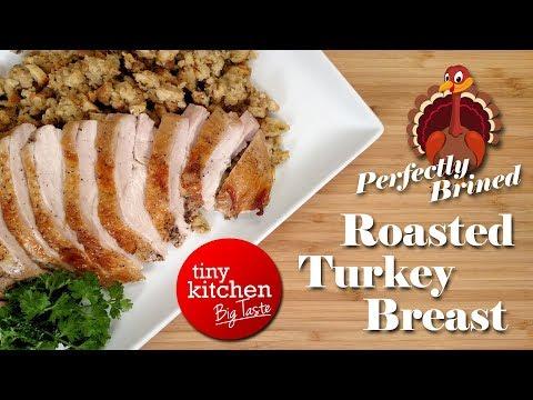 Perfectly Brined Roasted Turkey Breast // Tiny Kitchen Big Taste