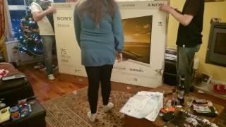 Sony 75XD9405 unpacking