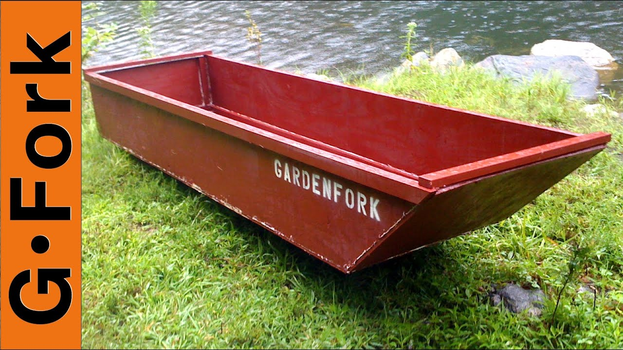 One Sheet Plywood Boat - GardenFork - YouTube