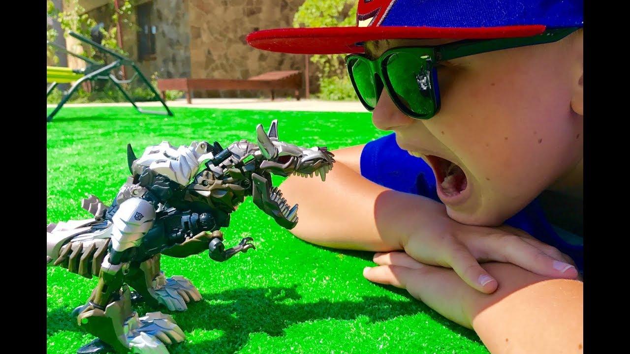 ТРАНСФОРМЕРЫ Автоботы Гримлок Игрушки для Мальчиков Видео для детей Transformers for kids Toys for