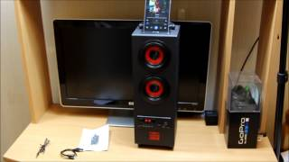 PSYC Torre Bluetooth Tower Speaker Stand - 2.1 Bluetooth Portable Loud Speaker Sound Demo & Review
