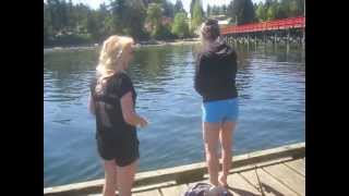 Fishing at Fernwood Dock on Salt Spring Island