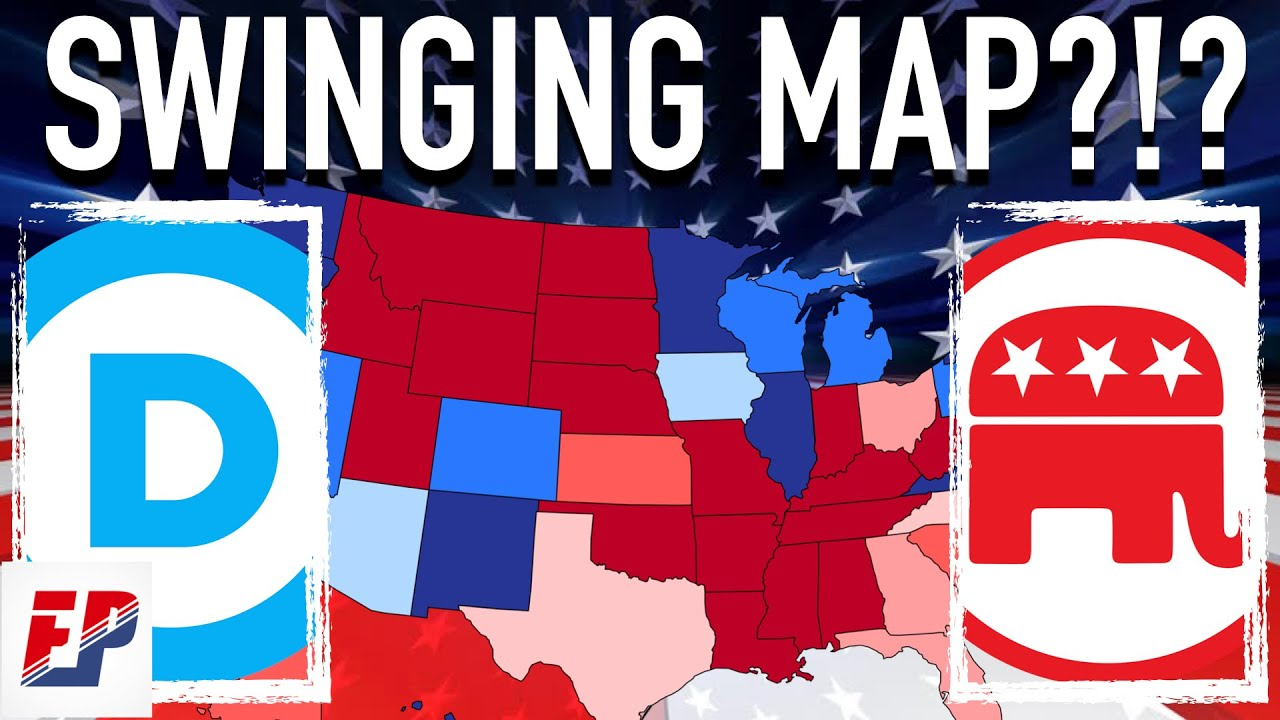 2020 Presidential Election Map if it Swings By 1 Point