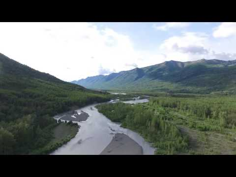 Drone at Eagle River Nature Center, Eagle River Alaska