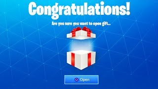 what happens when you open a GIFT in fortnite? - Fortnite Battle Royale GIFTING SYSTEM GAMEPLAY!