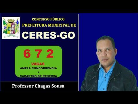 PREFEITURA MUNICIPAL DE CERES-GOIÁS Concurso Público/Prof. Chagas Sousa