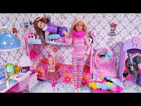 Barbie Kłótnia sióstr 🎀 Śmieszne żarty Skipper i Chelsea 🎀Bajka po polsku lalki NOWE MEBELKI