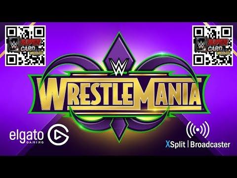 WWE SuperCard WrestleMania 34 QR Code Winners