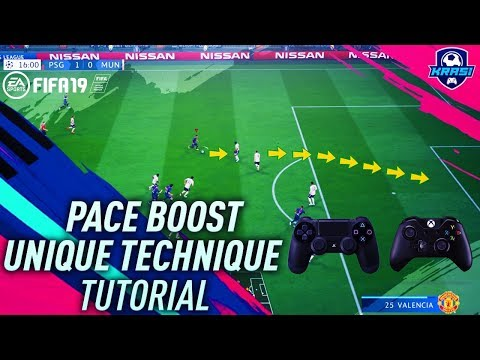 FIFA 19 UNIQUE PACE BOOST TUTORIAL - HOW TO SPRINT ULTRA FAST - BEST SPEED BOOST GLITCH
