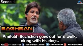 Amitabh Bachchan goes out for a walk, along with his dogs (Baghban)