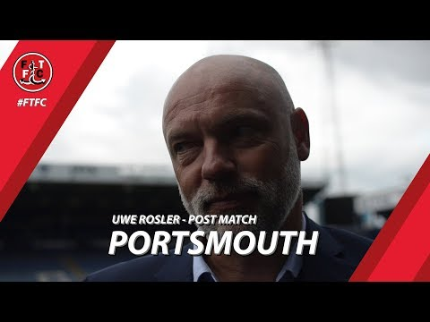 Uwe Rosler on Portsmouth defeat | Post Match