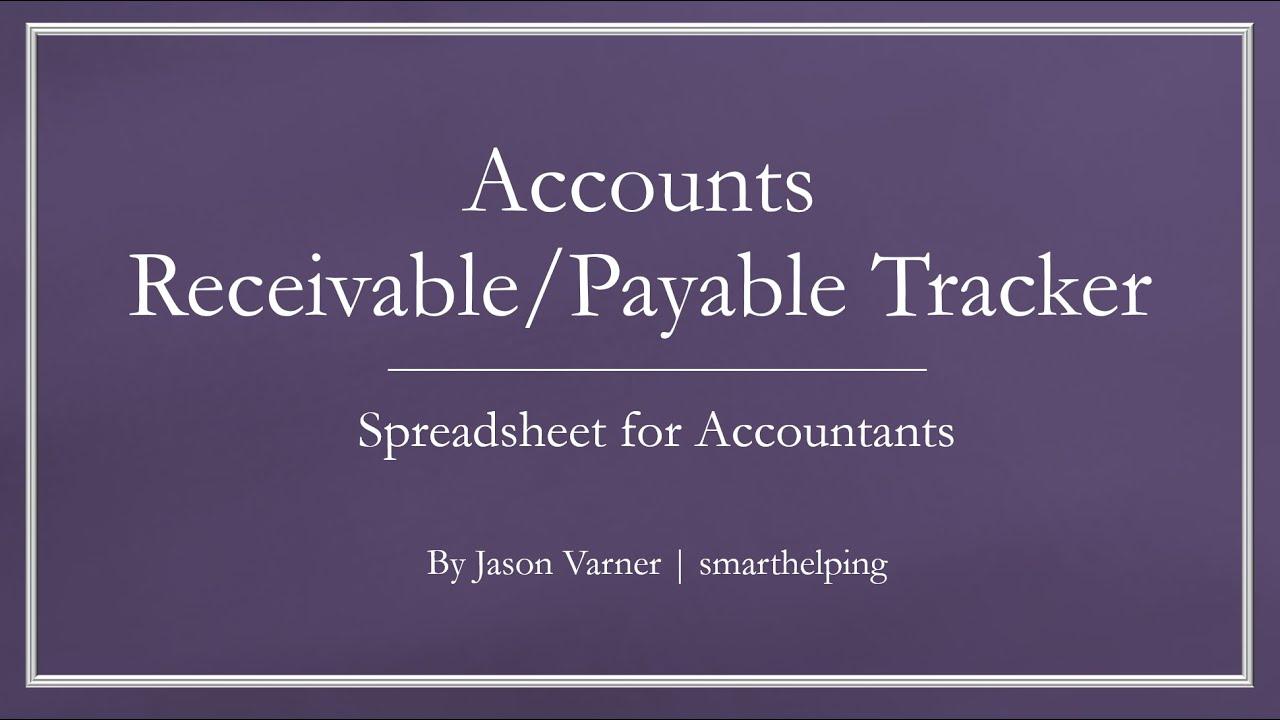 accounts receivable report template