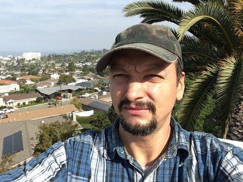 Ла Хойя, виды,  океан, дома. Работа на стройке. Сан Диего Калифорния США