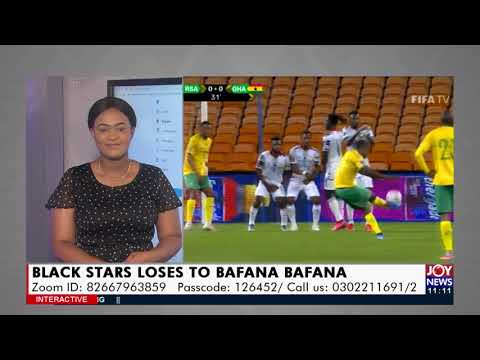 Black Stars lose to Bafana Bafana - JoyNews Interactive (7-9-21)