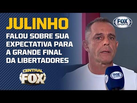 FALA, JULINHO! O FOX SPORTS JÁ ESTÁ NA COBERTURA DA FINAL DA LIBERTADORES! Veja entrevista exclusiva