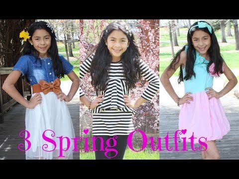 3 Spring Outfits | Kids Fashion| B2cutecupcakes