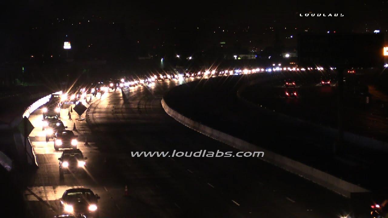 91 Freeway Closure Creates Traffic Nightmare / Corona RAW FOOTAGE