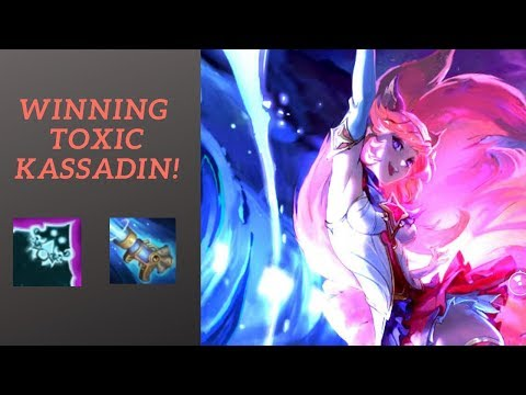 AHRI GAMEPLAY | WIINNING THE TOXIC KASSADIN!