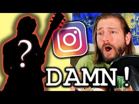 Metal guitarist reacts to fan guitar videos on Instagram