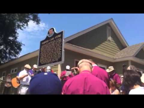Bishop Michael Curry blesses the Jonathan Daniels memorial plaque